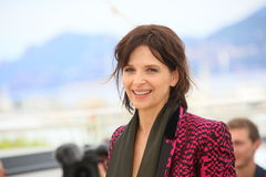Juliette Binoche. Attends the 'Slack Bay' (Ma Loute) Photocall during the 69th annual Cannes Film Festival at the Palais des Festivals on May 13, 2016 in Cannes Stock Photos