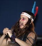 Juliette Lewis utför i konsert royaltyfria bilder