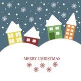 Julillustration med glad jul för citationstecken Arkivfoto