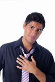 Julio Black Shirt Stock Photography