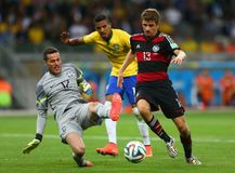Julio César and Thomas Muller Coupe du monde 2014 Royalty Free Stock Photo