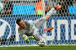 Julio Cesar Coupe du monde 2014 Imagens de Stock