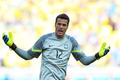 Julio Cesar Coupe du Monde 2014 Royalty Free Stock Photography