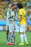 Julio Cesar and David Luiz  Coupe du Monde 2014 Royalty Free Stock Image