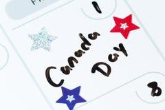 Julio primero, día de Canadá Fotos de archivo