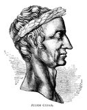 Julius Caesar. An engraved vintage illustration portrait of Julius Caesar 100-44BC  from a Victorian book dated 1866 that is no longer in copyright Stock Photo