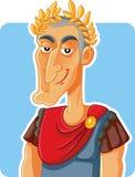 Julius Caesar Roman Emperor Vector Caricature royalty illustrazione gratis