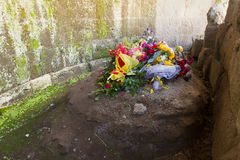 Julius Caesar`s Grave in the Roman Forum Royalty Free Stock Photos