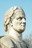 Julius Caesar statue. An isolated view from the bottom of a roman emperor Julius Caesar statue Royalty Free Stock Image