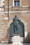 Julius Caesar statue Rimini Royalty Free Stock Photo