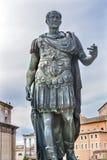 Julius Caesar Statue Roman Forum Rome Italië Royalty-vrije Stock Foto's