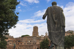 Julius Caesar Statue - Trajans Forum - Rome Royalty Free Stock Photos