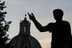Julius caesar. Statue of Julius Caesar in Rome at sunset Royalty Free Stock Images