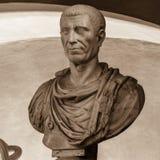 Julius Cesar (100-44 BC). POLAND, POZNAN - 23 DEC 2014: Julius Cesar (100-44 BC) intentional portrait, 18th c., marble, captured at Raczynski Museum, front Stock Images