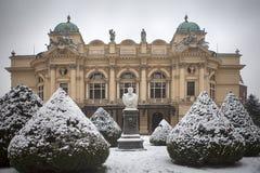 Juliush Slowacki teater i gammal stad av Krakow Arkivbild