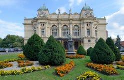 Juliusz Slowacki Theater in Krakau, Polen stockfoto