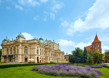 Juliusz Slowacki Theater in Krakow, Poland. Stock Image