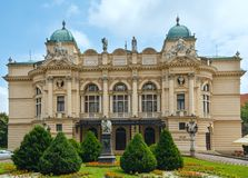 Juliusz Slowacki Theater in Krakow, Poland. Royalty Free Stock Photography