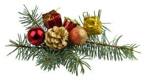 Juljulgåvor och leksaker som isoleras på vit bakgrund Royaltyfri Foto
