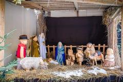 Juljulkrubba av Jesus Birth Arkivbild