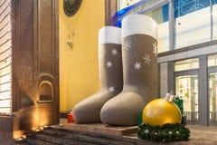 Julkängor Fotografering för Bildbyråer