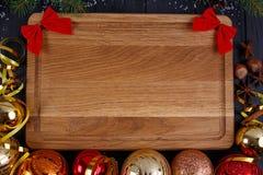Julkök, festlig matställe, feriefoodsbakgrund gran royaltyfria bilder