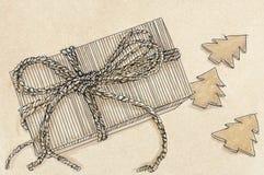 Julkakor med gåvan Royaltyfri Foto