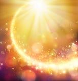Julkomet - guld- stjärna som skiner royaltyfri illustrationer