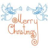 Julkortänglar med röret också vektor för coreldrawillustration Royaltyfria Bilder