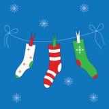 Julkort vektor illustrationer