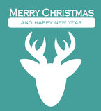 Julkort - dekorativ vykort för glad jul Royaltyfri Fotografi