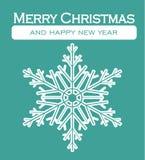 Julkort - dekorativ vykort för glad jul Arkivfoto