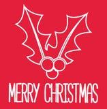 Julkort - dekorativt kort för glad jul Fotografering för Bildbyråer