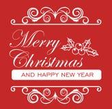 Julkort - dekorativt kort för glad jul Royaltyfria Bilder