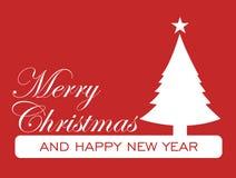 Julkort - dekorativt kort för glad jul Arkivbilder