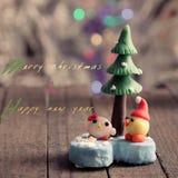 Julkort för vinterferie Royaltyfria Bilder