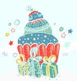 Julkort för xmas-design Arkivfoton