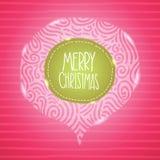 Julkort. Feriebakgrund med emblemet. Royaltyfri Bild