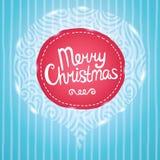 Julkort. Feriebakgrund med emblemet. Royaltyfri Fotografi