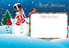 Julkort. Glad jul som märker för ditt Royaltyfri Foto