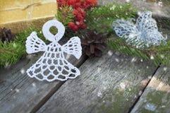 Julkort med ängel Royaltyfri Foto