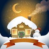 Julkort med banret Arkivfoto