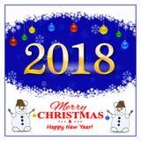 Julkort med dekorativa beståndsdelar på en mörk bakgrund också vektor för coreldrawillustration Royaltyfri Bild