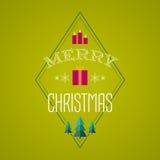 Julkort med feriesymboler glad jul Royaltyfri Fotografi