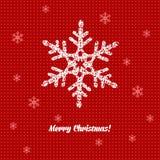 Julkort med garnering royaltyfri illustrationer