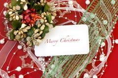 Julkort med garneringar Royaltyfria Foton