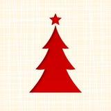 Julkort med gran-trädet Vektor EPS-10 Arkivbilder