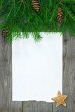 Julkort med granfilialen arkivbild
