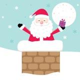 Julkort med gullig jultomtendesign Fotografering för Bildbyråer