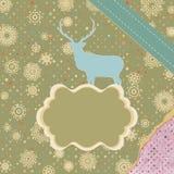 Julkort med hjortar. EPS 8 Arkivfoton